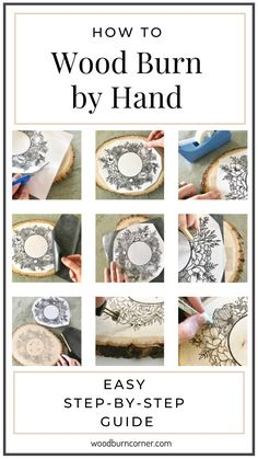 You can make wall art, a personalized sign, a baby gift, a custom wedding present, a housewarming gift, functional wood burned art and so much more. This is your quick-start 10 step guide to get you wood burning to help you understand the process so you can start the relaxing hobby of wood burning! Wood Burning Tips, Wood Burning Techniques, Wood Burning Crafts, Wood Burning Patterns, Wood Burn Designs, Wood Burning Stencils, Wood Craft Patterns, Wood Creations, Wooden Crafts