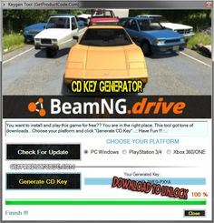 BeamNG drive CD Key Generator 2016