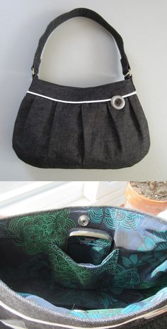 Buttercup Bag Sewing Pattern My Buttercup Bag- This will be my new every day purse, I am LOVING it! :)My Buttercup Bag- This will be my new every day purse, I am LOVING it! Bag Patterns To Sew, Sewing Patterns, Zipper Pouch Tutorial, Purse Tutorial, Diy Bags No Sew, Diy Backpack, Fabric Gift Bags, Fabric Handbags, Sewing Tutorials