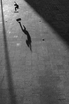 Portugal based Skate Photographer Renato Lainho | skater | skate | trick | kick flip | shadow | night | street light | air | lift | rad | art | www.republicofyou.com.au