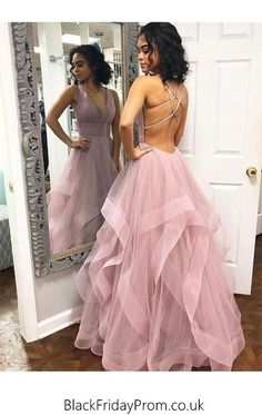 : Blush Pink Ruffles Ball Gown Criss Cross Backless Prom Dresses V neck Long Prom . Blush Pink Ruffles Ball Gown Criss Cross Backless Prom Dresses V neck Long Prom Dress Tulle Evening Dress Formal Gowns Hot Prom Gowns Source by Straps Prom Dresses, Pink Prom Dresses, Backless Prom Dresses, Homecoming Dresses, Sexy Dresses, Prom Gowns, Princess Dresses, Long Dresses, Winter Dresses