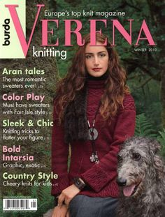 "Photo from album ""VERENA knitting winter on Yandex. Knitting Books, Crochet Books, Arm Knitting, Knitting For Kids, Vintage Knitting, Knitting Patterns, Knit Crochet, Knitting Magazine, Crochet Magazine"