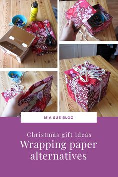 Most regular wrapping papers get ruined after one use and I think there are more sustainable ways to wrap gifts, so I listed three wrapping paper alternatives for you. Wrapping Papers, Gift Wrapping, Christmas Shopping, Christmas Gifts, Wrap Gifts, Some Ideas, Surface Pattern Design, Creative Studio, Alternative