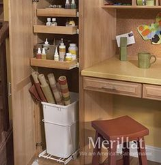 Merillat Masterpiece® Utility Cabinet With Pull-Out Waste Basket Kit