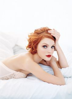 red lips, red hair equals perfection