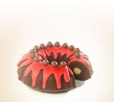 Get the recipe for a delicious bundt cake with raspberry icing and Maltesers for your bake sale and help #bakeamillion for Red Nose Day.