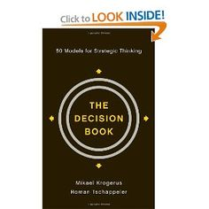 84 best thought leadership books images on pinterest leadership the decision book 50 models for strategic thinkingmikael krogerus roman tschppeler fandeluxe Gallery