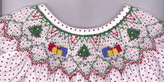"CEC- ""Christmas Gifts Bishop"" Smocking Plate by Crosseyed Cricket"