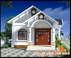 Bungalow House Design, House Front Design, Small House Design, Modern House Design, Design Exterior, Roof Design, Story House, My House, Tree House Designs