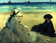 Na Praia, tela de Edouard Manet