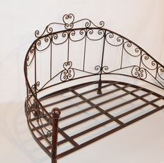 """Pet Cat Dog PRINCESS DAYBED WROUGHT IRON BED  ~ Large 32"""" Brown Metal"""