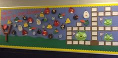 Angry Birds Inspired Elementary Back To School Bulletin Board Idea: Must be some way to relate this to OT