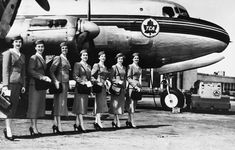 1953 Trans Canda Airlines air stewardesses (Photo from Air Canada)
