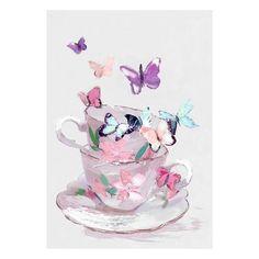 Hand Finished Teacup Butterflies Canvas | Dunelm  sc 1 st  Pinterest & Pastel Leaves Metal Wall Art | Dunelm | Home Decor | Pinterest ...