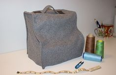 Sewing School - your online source for all things sewing —   Tutorial: Wool and Leather Serger Cozy