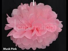 pom poms - musk pink, peach, lilac, cream/white (not both). vary sizes
