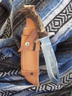 Alaska Bowie | Bowie knife with a deer antler, black walnut … | Flickr