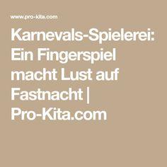 Karnevals-Spielerei: Ein Fingerspiel macht Lust auf Fastnacht | Pro-Kita.com