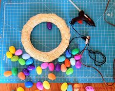 How to make an Easter Egg Wreath - Mommy Is Coo Coo