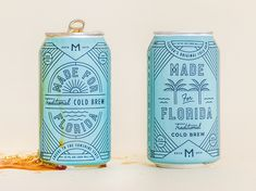 Made for Florida Cold Brew packaging design by Kenny Coil for Break Maiden Beverage Packaging, Coffee Packaging, Coffee Branding, Brand Packaging, Packaging Design, Chocolate Packaging, Bottle Packaging, Food Packaging, Coffee Label