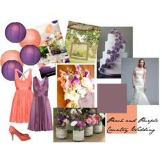 """Peach and Purple Country Wedding"""