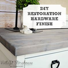 DIY Restoration Hardware Look by #VintageStorehouse #DIYDriftwood #RestorationHardwareInspired