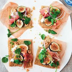 Rustic Fig, Serrano Ham & Hazelnut Tartines my recipe featured on Epicurious = from Cannelle et Vanille
