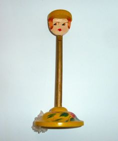 Vintage Flapper Girl Painted Wood Hat Stand Doll Head, Doll Face, Country Cottage Bedroom, Wig Stand, Hat Stands, Painted Wood, Painting On Wood, Boudoir, Dolls