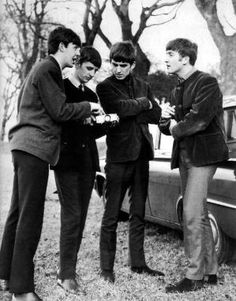 Paul McCartney, Richard Starkey, George Harrison, and John Lennon by pearlie