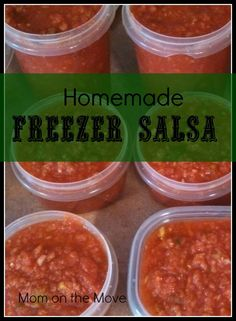 Tomato Recipes Homemade Freezer Salsa - I've got the best recipe here for making your own homemade freezer salsa with a tip that will save you hours! It's a definite need to know tip! Fresh Tomato Recipes, Veggie Recipes, Mexican Food Recipes, Healthy Recipes, Garden Tomato Recipes, Tomato Garden, Healthy Dishes, Mexican Dishes, Healthy Eats