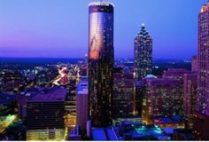 8) The Westin Peachtree Plaza Atlanta: Towering 73 floors above the city, The Westin Peachtree Plaza's presence is known as one of Atlanta's most famous architectural landmarks. Located in the heart of downtown Atlanta, the hotel is just steps away from the Georgia World Congress Center and several major attractions--the Georgia Aquarium, the new World of Coca-Cola, Philips Arena and Centennial Olympic Park.