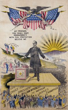 Poster for Presidential Candidate William McKinley (R), 1896.