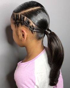 So creative and cute?Love this sleek ponytail by ? Swipe left for multiple views✨ Isnt she cute ? Lil Girl Hairstyles, Black Kids Hairstyles, Girls Natural Hairstyles, Kids Braided Hairstyles, Easy Hairstyles For Long Hair, My Hairstyle, Ponytail Hairstyles, Short Hairstyles, Rubber Band Hairstyles