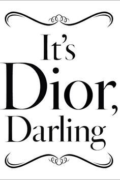It's Dior Darling DIOR ♦dAǸ†㉫♦