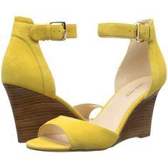 98b62a6f96240a Nine West Farlee (Yellow Nubuck) Women s Wedge Shoes (2.680 RUB) ❤ liked