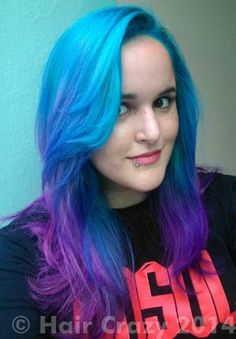DivineAndDamned -   - Flamingo Pink (Punky)   - Lagoon Blue (Punky)   - Turquoise (Punky) Turquoise purple ombre