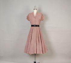 1940's Striped Dress
