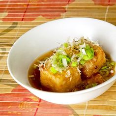 Agedashi Tofu - deep fried tofu tsuyu broth | Pickled Plum