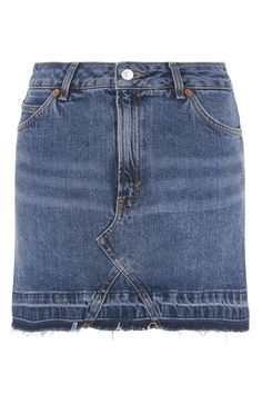 MOTO Let Down Hem Denim Skirt - Topshop USA
