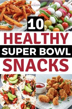 10 Healthy Super Bowl Snack Recipes - Keto recipes - Enjoy the game with these 10 healthy super bowl snack recipes. The best healthy super snacks everyo - Healthy Superbowl Snacks, Healthy Appetizers, Appetizer Recipes, Healthy Recipes, Snack Recipes, Party Appetizers, Healthy Meals, Keto Recipes, Party Snacks