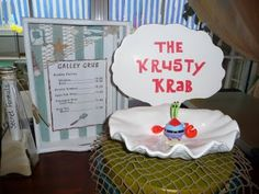 Krusty Krab sign for the food table