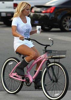 Femdom run over bike