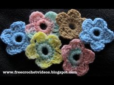 How to crochet a simple flower.  Add this cute flower to hats, scarves, bags or anywhere else you like.  For written instructions and more info, visit the blog: http://freecrochetvideos.blogspot.com/2012/12/easy-crochet-flower.html
