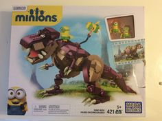 New Mega Bloks Minions Dino Ride Set 421 Pcs Building Toy Ages 5+ T-Rex #MegaBloks