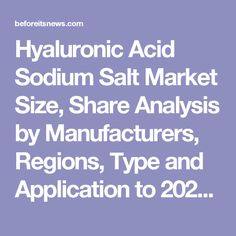 Hyaluronic Acid Sodium Salt Market Size, Share Analysis by Manufacturers, Regions, Type and Application to 2021 | Business