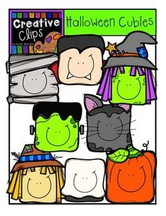 SO Cute! Halloween Cubies {Creative Clips Digital Clipart}