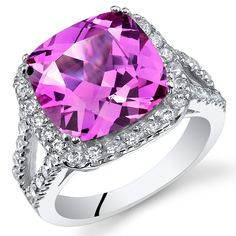 Pink Sapphire Ring, Sapphire Jewelry, Pink Jewelry, Silver Jewelry, Alexandrite Ring, Cocktail Rings, Sterling Silver Rings, Engagement Rings, Pure Products