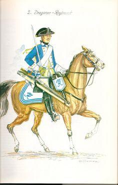 Prussia; Dragoon Regiment Nr.2, c.1750 by G.Donn