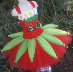 Strawberry Kiss Inspired Tutu Dress Shopkins Dress Shopkins