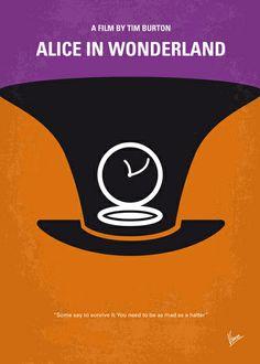 Alice in Wonderland minimal movie poster